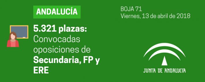 Andalucía publica la convocatoria de oposiciones de Secundaria, FP y ERE - Academia CLAUSTRO