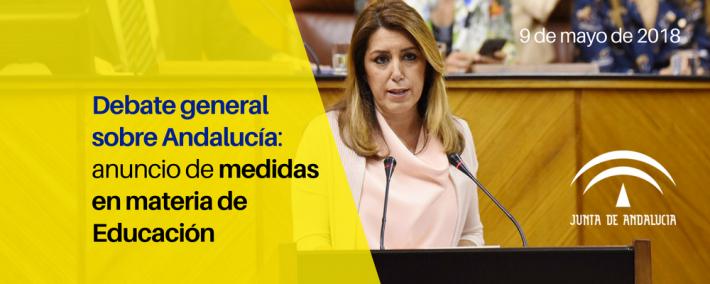 Anuncios en materia de Educación en el debate sobre la situación política de Andalucía - Academia CLAUSTRO