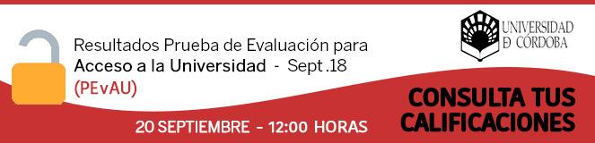 Portal de las Pruebas de Evaluación para el Acceso a la Universidad de Córdoba.