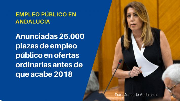 La Junta de Andalucía convocará 25.000 plazas de empleo público antes del final de 2018 - Academia CLAUSTRO