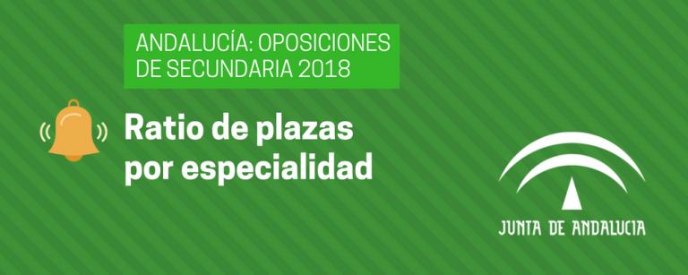 Ratio por especialidad en las oposiciones de Secundaria de 2018 de Andalucía - Academia CLAUSTRO