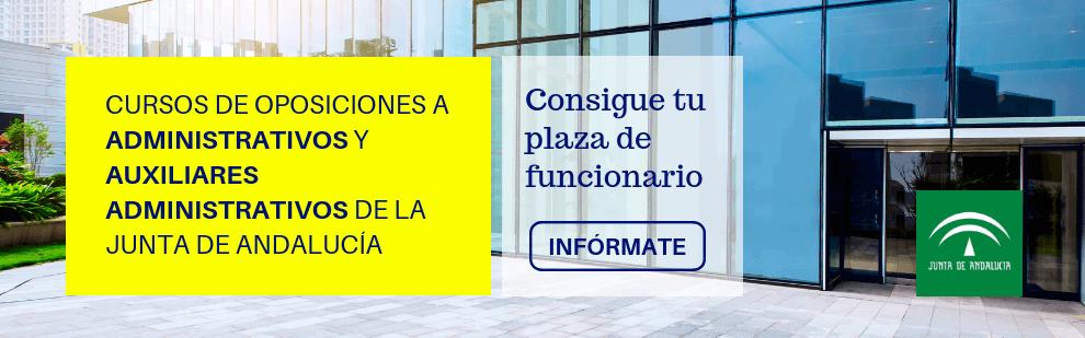 Cursos de oposiciones a Administrativos y Auxiliares Administrativos de la Junta de Andalucía - Academia CLAUSTRO Sevilla