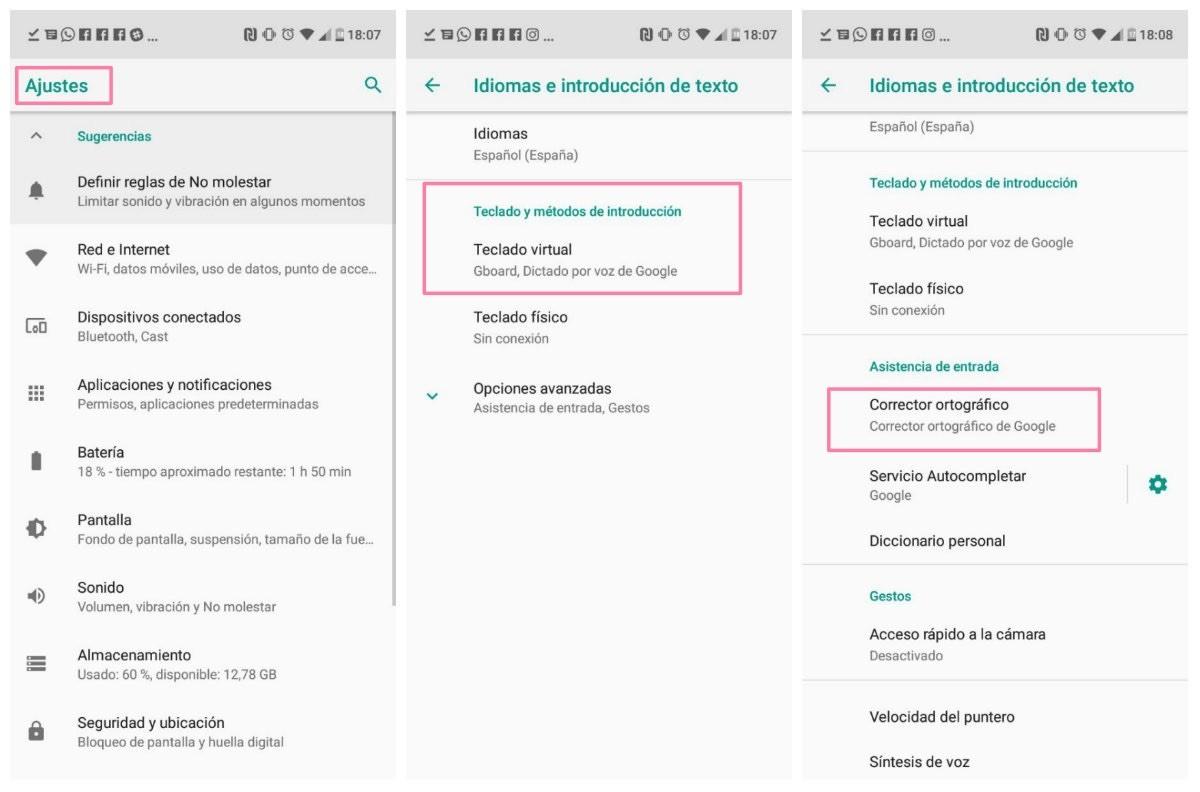 Cómo activar el corrector ortográfico en un móvil Android o iPhone - xatakamovil.com