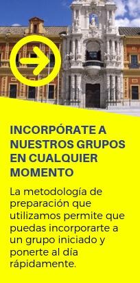 Puedes matricularte e incorporarte en cualquier momento. Oposiciones Administrativos Junta Andalucía - CLAUSTRO
