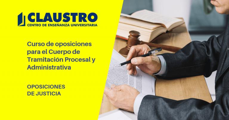 Curso de oposiciones para el Cuerpo de Tramitación Procesal y Administrativa - Academia CLAUSTRO