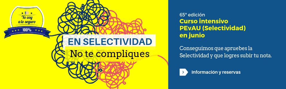 Curso intensivo PEvAU (Selectividad) en junio - Academia CLAUSTRO