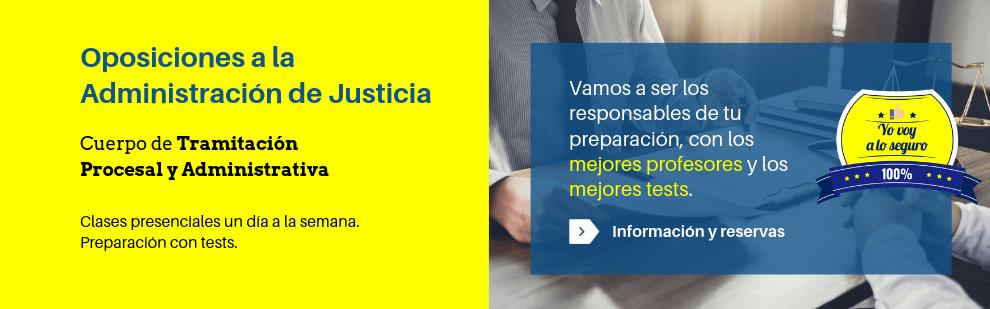Preparación de oposiciones a los cuerpos de Tramitación Procesal y Administrativa - Academia CLAUSTRO