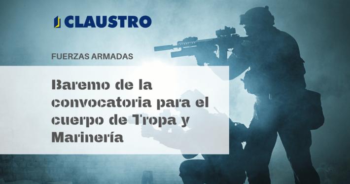 [2019] Baremo de la convocatoria para el cuerpo de Tropa y Marinería (Fuerzas Armadas) - Academia CLAUSTRO