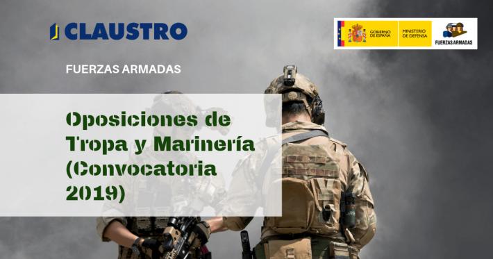 Oposiciones de Tropa y Marinería (Convocatoria 2019) - Academia CLAUSTRO