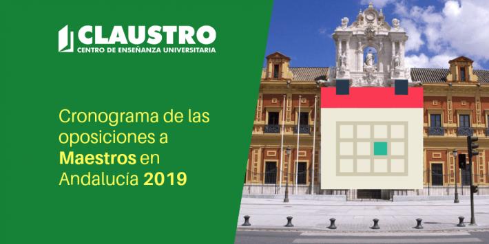 Cronograma de las oposiciones a Maestros en Andalucía 2019