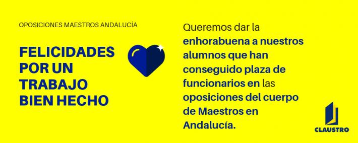 FELICIDADES POR EL TRABAJO BIEN HECHO - Oposiciones de Magisterio en Andalucía - Academia CLAUSTRO Sevilla