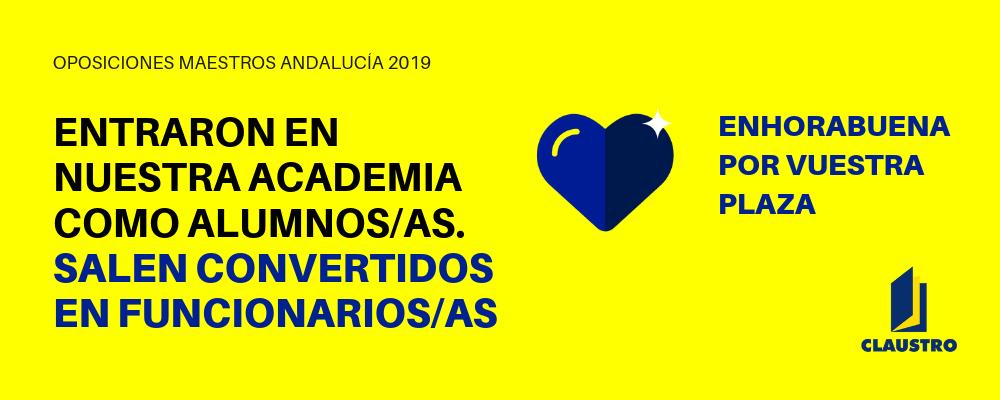 Personas seleccionadas en las oposiciones al cuerpo de maestros 2019 en Andalucía - Academia Claustro