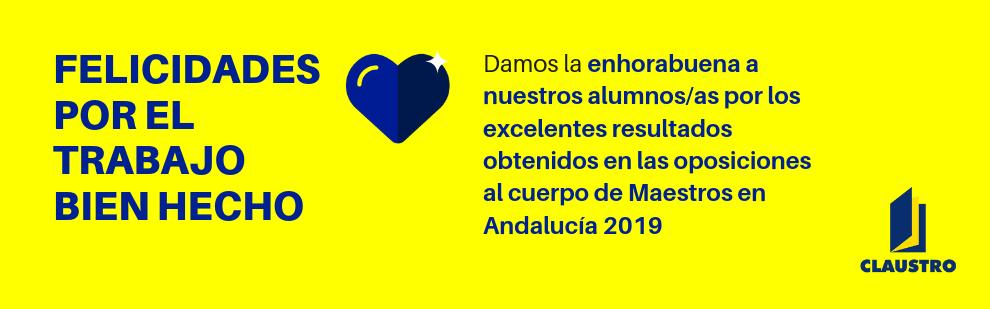 Damos la enhorabuena a nuestros alumnos/as por los excelentes resultados obtenidos en las oposiciones al cuerpo de Maestros en Andalucía 2019 - Academia CLAUSTRO