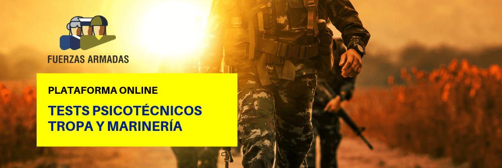 Tests psicotécnicos Tropa y Marinería - Ejército - Academia CLAUSTRO