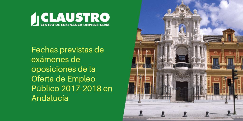 Calendario Selectividad 2020 Andalucia.Fechas De Examenes De Oposiciones De La Oferta De Empleo Publico