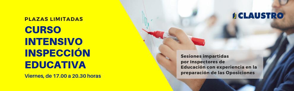 Curso intensivo de Inspección Educativa - Sevilla - Academia CLAUSTRO