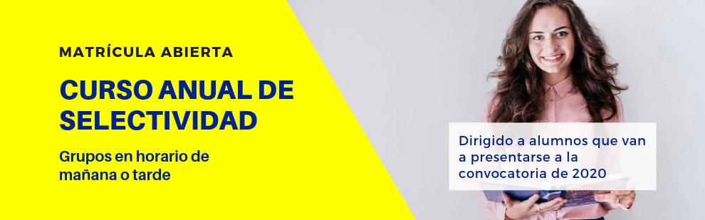 Curso anual de Selectividad (PEvAU) - Academia CLAUSTRO Sevilla