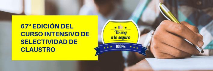 Curso intensivo de Selectividad de Junio 2020 en Sevilla - Academia CLAUSTRO