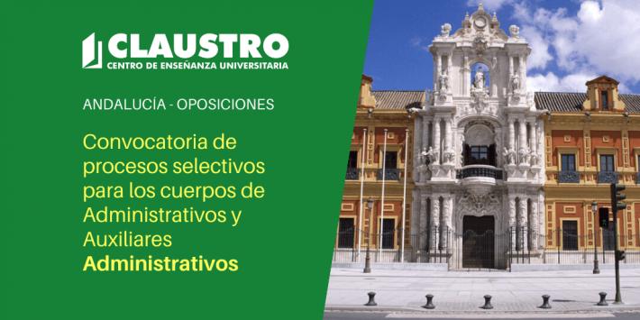 Publicadas convocatorias de Administrativos y Auxiliares Administrativos de la Junta de Andalucía