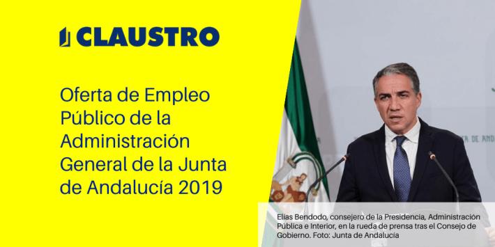 La Junta de Andalucía convoca oposiciones para 2.356 plazas de personal funcionario