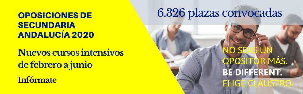 Cursos intensivos de oposiciones de Secundaria - Febrero - Mayo 2020 - Academia CLAUSTRO Sevilla