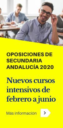 Cursos intensivos de febrero a junio, práctica y didáctica para las oposiciones de Secundaria de Andalucía de 2020.